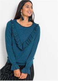 Pullover mit Volants und metallisierten Fasern, BODYFLIRT