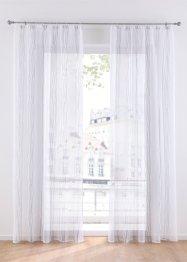 Transparente Gardine mit Streifen Druck (1er Pack), bpc living bonprix collection