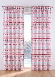 Vorhang mit Tannen Druck (1er Pack), bpc living bonprix collection