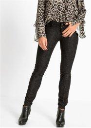 Skinny Jeans mit Schlangen Waschung, RAINBOW