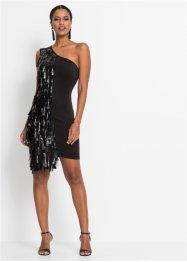 One-Shoulder-Kleid mit Lederimitat-Fransen, BODYFLIRT boutique