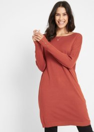 Feinstrick-Longpullover mit Knopfdetail, bpc bonprix collection