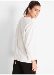 Waffelpiqueshirt mit Reißverschluss am Rücken, langarm, bpc bonprix collection