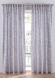 Vorhang mit Blätter Druck (1er Pack), bpc living bonprix collection