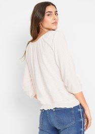 Shirt, Crepestretch-Qualität, 3/4-Arm, John Baner JEANSWEAR