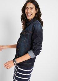 Jeansjacke mit seitlichem Rippeinsatz, bpc bonprix collection