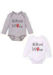 Baby Langarmbody (2er-Pack) Bio-Baumwolle, bpc bonprix collection