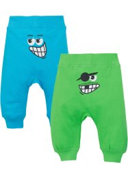 Baby Sweathose (2er-Pack) Bio-Baumwolle, bpc bonprix collection