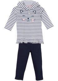 Baby Kapuzenshirt + Leggings (2-tlg.) Bio-Baumwolle, bpc bonprix collection