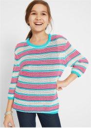 Mädchen Pullover mit Streifen, bpc bonprix collection