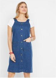 Jeanskleid mit Latzträgern und Knopfleiste, bpc bonprix collection