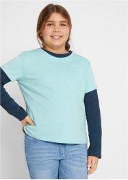 Mädchen T-Shirt + Langarmshirt (2-tlg.), extraweit, bpc bonprix collection