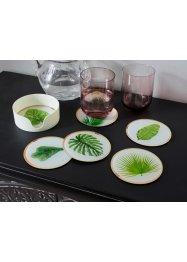 Untersetzer mit Blättern (7-tlg.Set), bpc living bonprix collection