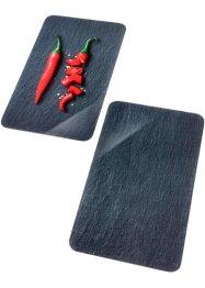 Herdabdeckplatten mit Peperoni-Motiv (2er Pack), bpc living bonprix collection