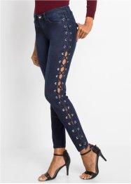 Skinny-Jeans mit Schnürungen, BODYFLIRT boutique