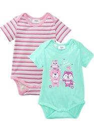 Baby Kurzarmbody (2er-Pack) Bio-Baumwolle, bpc bonprix collection