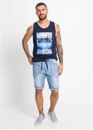 Jeans-Bermuda mit elastischem Bund, Regular Fit, RAINBOW