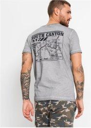 T-Shirt in ausgewaschener Optik, Slim Fit, RAINBOW