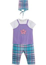 Baby Kleid + T-Shirt + Leggings + Kopftuch (4-tlg.) Bio-Baumwolle, bpc bonprix collection