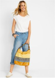 Jeans mit Bequembund und seitlichem Streifen, Straight-Fit, bpc bonprix collection