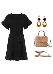 Jerseykleid mit Volants, BODYFLIRT