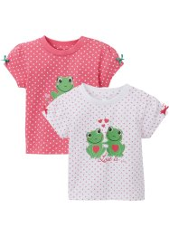 Baby T-Shirt (2er-Pack) Bio-Baumwolle, bpc bonprix collection