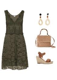 Kleid mit Häkelspitze, V-Ausschnitt, BODYFLIRT