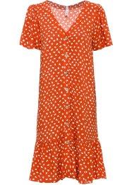gemustertes Kleid mit Knopfleiste und kleinem Volant, RAINBOW
