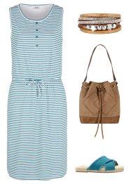 Jerseykleid mit Knopfleiste und Bindeband, bpc bonprix collection