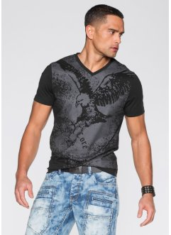 T-Shirt in Slim Fit, RAINBOW, schwarz