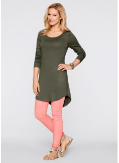 Long-Shirt, Langarm, bpc bonprix collection, dunkeloliv