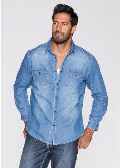 Jeanshemd Regular Fit, John Baner JEANSWEAR, blue bleached used