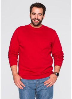 Herren Sweatshirt, Regular Fit, bpc bonprix collection, rot