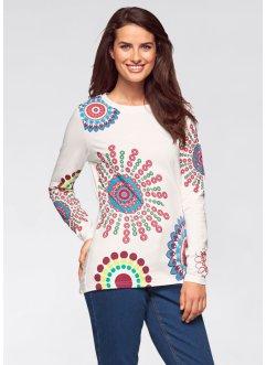 Shirt, langarm, bpc bonprix collection, wollweiß bedruckt