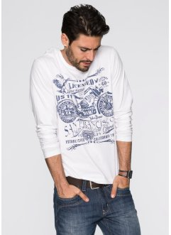 T-shirt manches longues Regular Fit, John Baner JEANSWEAR, bleu jean