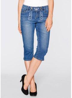 Trachten-Jeans mit Stickerei, 3/4-Länge, bpc bonprix collection, blue stone