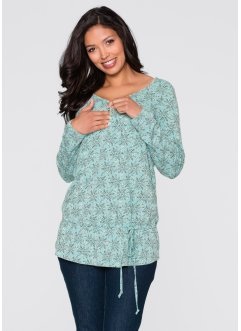 Stillshirt / Umstandsshirt, Langarm, bpc bonprix collection, aquapastell bedruckt