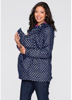 Umstandsjacke mit Baby-Einsatz, weitenregulierbar, bpc bonprix collection, dunkelblau/weiß gepunktet
