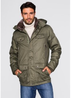 Veste longue Regular Fit, bpc bonprix collection, olive foncé