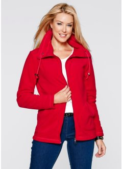Fleece-Jacke, bpc bonprix collection, rot