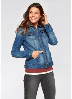Jeansjacke mit Reißverschluss, John Baner JEANSWEAR, blau