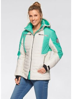 Funktions-Outdoorsteppjacke, bpc bonprix collection, wollweiß/mint