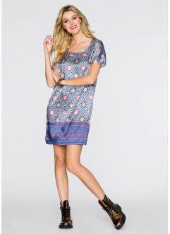 Kleid, bedruckt, RAINBOW, blau/dunkelrot