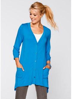 Shirt-Jacke, 3/4 Arm, bpc bonprix collection, capriblau