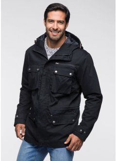 Veste longue Regular Fit, bpc selection, noir