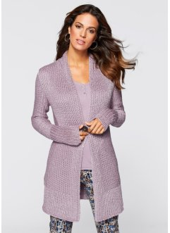 Strickjacke, bpc selection, anthrazit meliert
