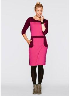Punto Di Roma Kleid mit 3/4-Ärmeln designt von Maite Kelly, bpc bonprix collection, dunkelpink/ahornrot