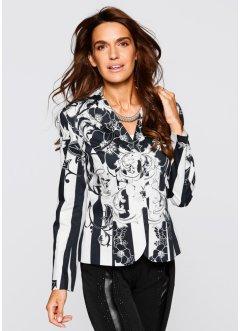 Premium Blazer bedruckt, bpc selection premium, weiß/schwarz bedruckt