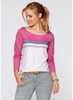 Shirt, Langarm, bpc bonprix collection, mattpink gestreift