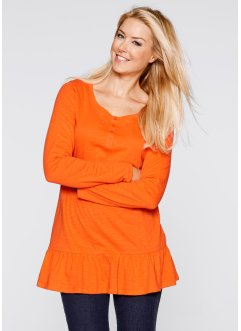 Longshirt, långärmad, bpc bonprix collection, mörk orange
